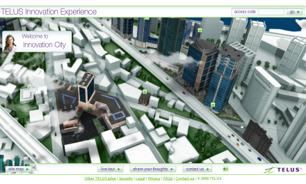 TELUS Innovation Experience – Virtual world of IT business solutions
