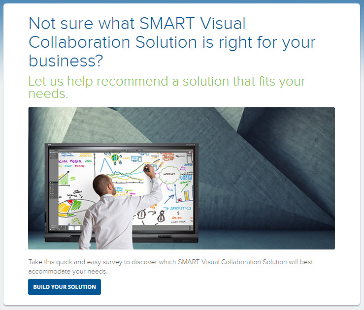 SMART Visual Collaboration Solution Configurator