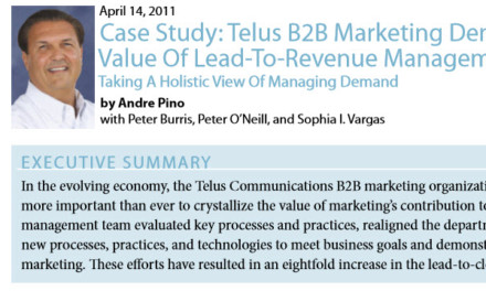 Forrester Research Case Study: TELUS B2B Marketing Demonstrates The Value of Lead-To-Revenue Management