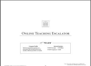 online teaching escalator