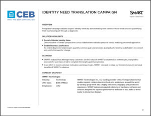personal need validation campaign case study top page